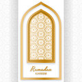 Ramadan Kareem Background. Islamic Arabic window. Greeting card. Vector illustration. Royalty Free Stock Photo