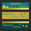 Ramadan Kareem bannes.