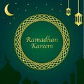 Ramadan Kareem Card. a luxurious and magnificent Islamic background. instagram feed stock vector design.