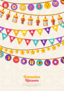 Ramadan Kareem concept banner with Garlands