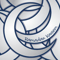 Ramadan kareem generous card in vector format Royalty Free Stock Image
