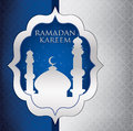 Ramadan kareem generous mosque card in vector format Royalty Free Stock Photo
