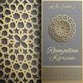 Ramadan Kareem greeting card,invitation islamic style.Arabic circle pattern.