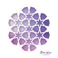 Ramadan Kareem Greeting card . Purple Origami Arabesque Mosque Window. Arabic Ornamental pattern in paper cut style.Holy Royalty Free Stock Photo