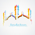 Ramadan kareem illustration beautiful colorful Stock Photography