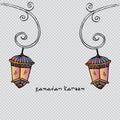 Ramadan Kareem with lamp