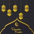 Ramadan Kareem season Background Vector