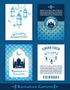 Ramadan Kareem. Set of Ramadan design templates.