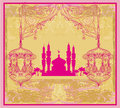 Ramadan kareem vector design abstract religious background Royalty Free Stock Image