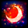 Ramadan kareemwords and half moon