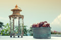 Ramadan lamp and dates fruit still life served during holy month Stock Photography