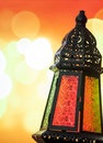 Ramadan lantern egyptian on bokeh light Stock Photo
