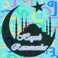 Ramadan month celebration card Royaltyfri Foto