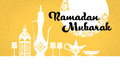 Ramadan mubarak teapot yellow background vector Royalty-vrije Stock Afbeelding