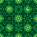 Ramadan star many symmetry birght circle seamless pattern