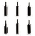 Ramassage de bouteilles de vin rouge Images libres de droits