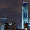 Ramat Gan city at night. Royalty Free Stock Photo
