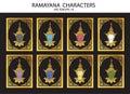 Ramayana characters vector