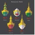 Ramayana mask eps 10 format