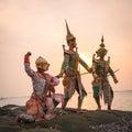 Ramayana thai traditional dance Royalty Free Stock Photo