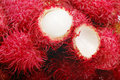 Rambutan close-up Royalty Free Stock Images