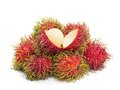 Rambutan fruit on white background Royalty Free Stock Images