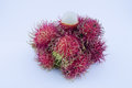 Rambutan fruit yield seasonal asia Stock Image