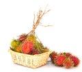 Rambutan fruits iii over white background Royalty Free Stock Photography
