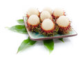 Rambutan fruits isolated on white background Royalty Free Stock Photo
