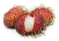 Rambutan fruits isolated on white open background Stock Photography