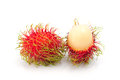 Rambutan fruits on white background Stock Photography
