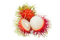 Rambutan isolated on white Stock Photography
