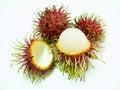 Rambutan red look as delicious Stock Photos