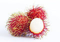 Rambutan on white table Royalty Free Stock Image