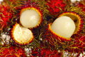Rambutans opened Royalty Free Stock Photo
