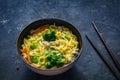 Ramen - asian noodle soup Royalty Free Stock Photo