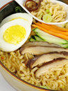 Ramen With Egg Stock Photography