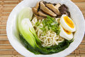 Ramen soup traditional noodle mushroom Stock Photo