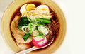 Ramen traditional japanese food in a bowl Stock Photo