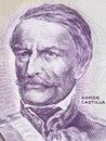 Ramon Castilla portrait Royalty Free Stock Photo