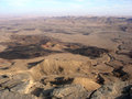 Ramon crater makhtesh ramon israel aerial view of in the negev desert at the south region of Stock Photo