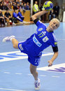 Ramona farcau of oltchim ramnicu valcea pictured in action during a ehf champions league game between and slovenian handball Stock Images