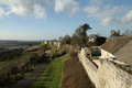 Rampart of coucy le chateau aisne picardy region france Royalty Free Stock Photo