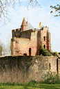 Rampart and ruins of Brederode Castle, Holland Stock Image