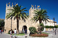 Ramparts of alcudia majorca spain Stock Images
