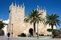 Ramparts of alcudia majorca spain Stock Photo