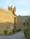 Ramparts at Montalcino Stock Photography