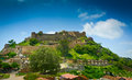 Ramparts walls kumbhalgarh fort rajasthan india Royalty Free Stock Photo