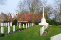 Ramparts world war one commonwealth war cemetery in ypres belgium Royalty Free Stock Images