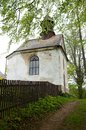 Rampuse czech republic old chapelle in orlicke mountains in village Stock Image